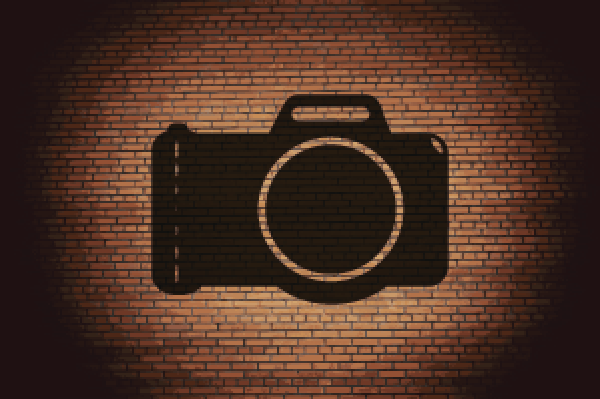 Photo Camera Flat Modern Web Button and Space for Your | Clipart