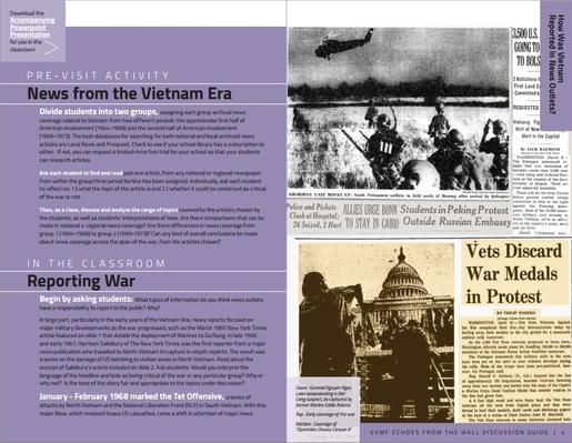 News Stories of Vietnam: Discussion Guide | Vietnam Veterans Memorial Fund