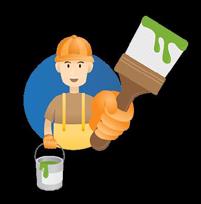 Handyman, Builder, Craftsman, Painter | Clipart