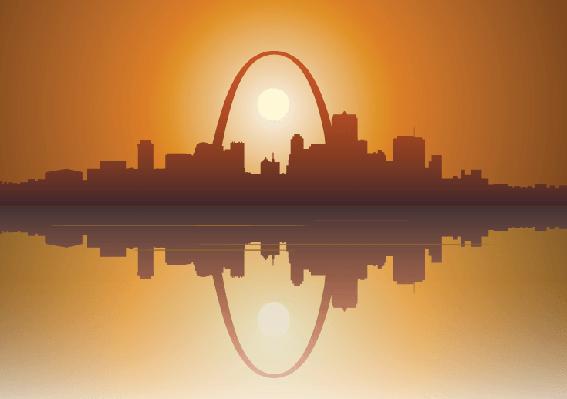 St Louis City Sunset | Clipart