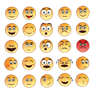 Smiley Faces Emoticon Set | Clipart