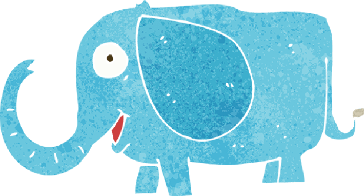 Cartoon Baby Elephant | Clipart