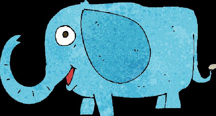 Cartoon Baby Elephant   Clipart