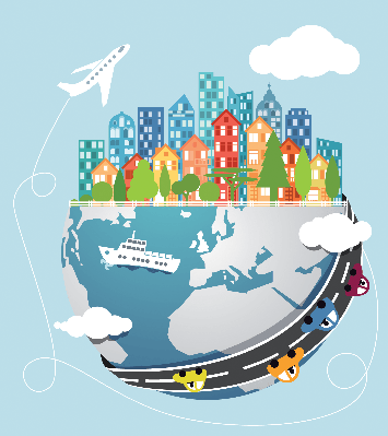 Cities - Global Transportation | Clipart