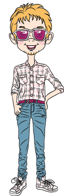 Funny Cartoon Hipster Boys | Clipart