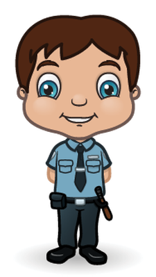 Children Police Set 1 | Clipart