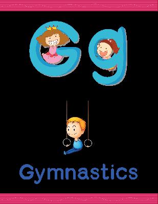 Alphabet Worksheets - G for Gymnastics | Clipart