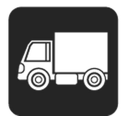 Travel and Transportation - Black & White - Truck | Clipart