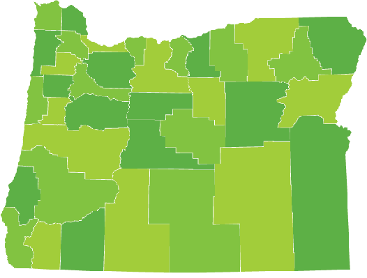 Oregon County Map | Clipart