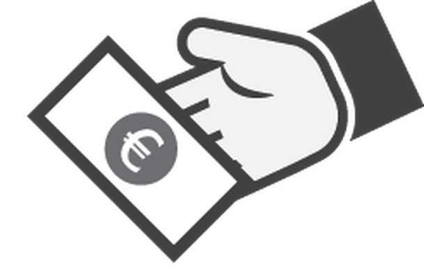 Hand with Money Icon - 2   Clipart