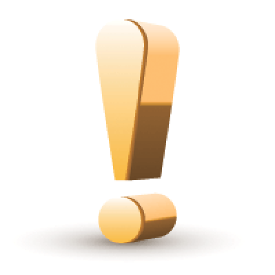 Golden Exclamation Mark | Clipart