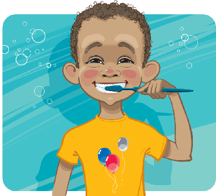 Boy Cleaning His Teeth | Clipart