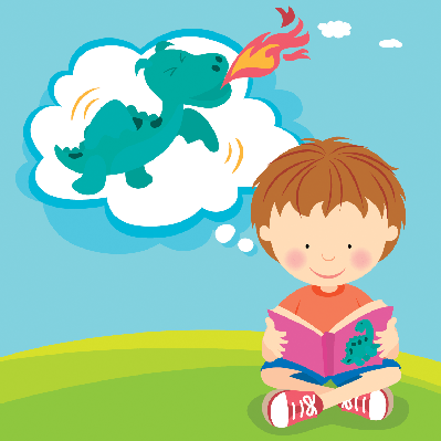 boy reading with imagination clipart pbs learningmedia