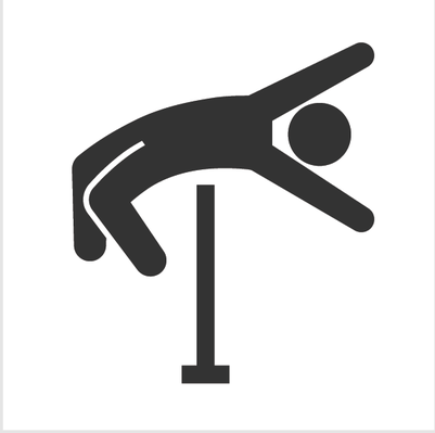 Athletics and Gymnastics Icon Set - High Jump | Clipart