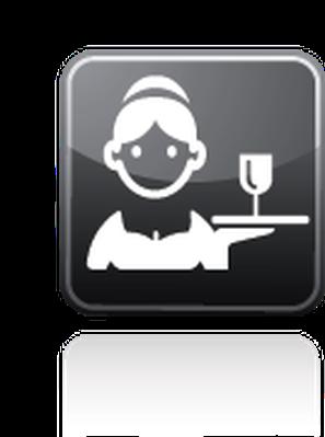 Professions - Waitress | Clipart