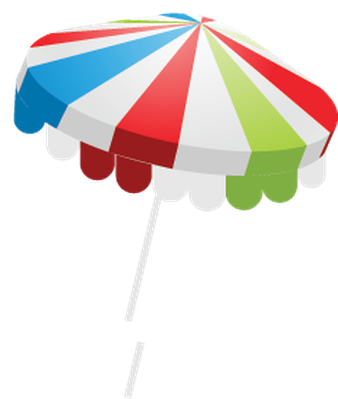 Summer Beach Set - Beach Umbrella | Clipart