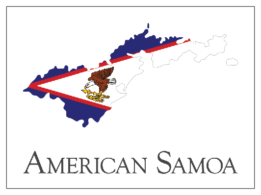 American Samoa Flag Map | Clipart