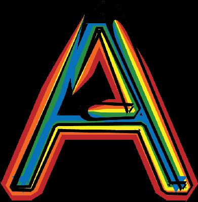 Colorful Font Letter: A | Clipart