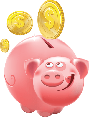 Full Piggy Bank | Clipart