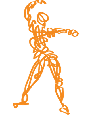 Scribbled Dance Fitness | Clipart