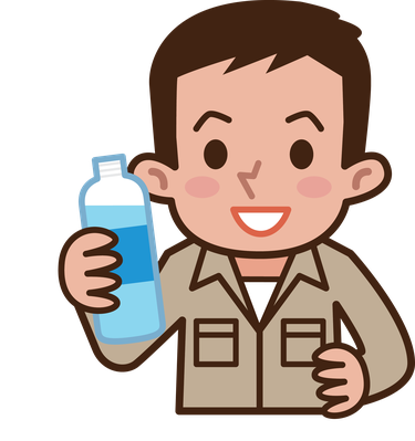 Worker Drinking Water | Clipart