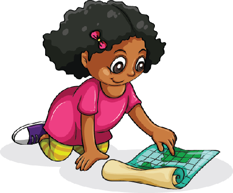 Young Girl Studying | Clipart