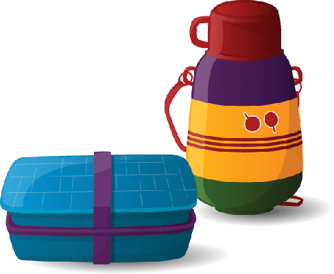 Lunch Box and Water Bottle | Clipart