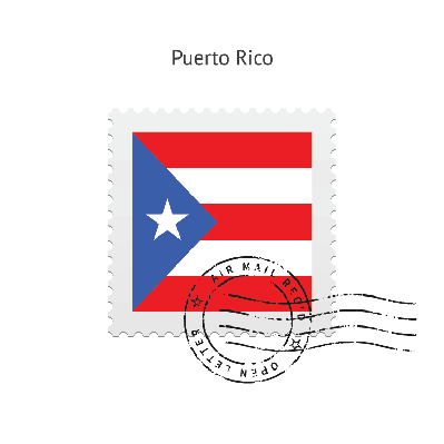 Puerto Rico Flag Postage Stamp | Clipart
