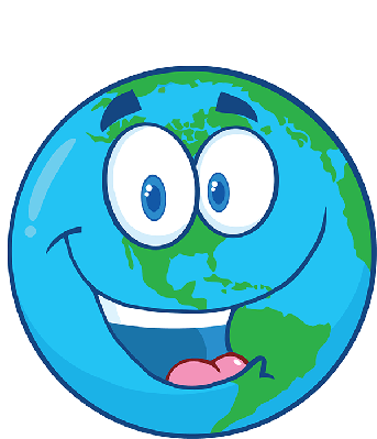 Happy Earth Under Text | Clipart