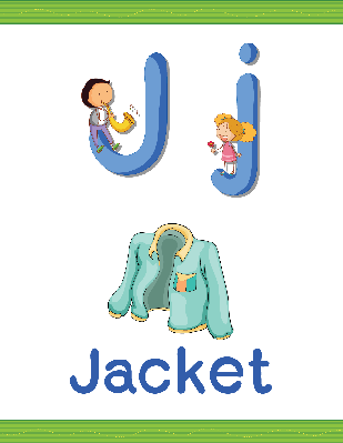 Alphabet Worksheets - J for Jacket | Clipart