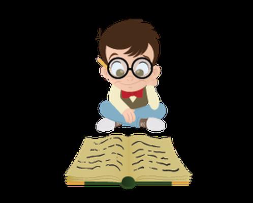 Bookworm Boy | Clipart