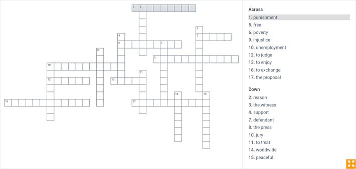 Spanish 4 Unit 4 Vocabulary Puzzle