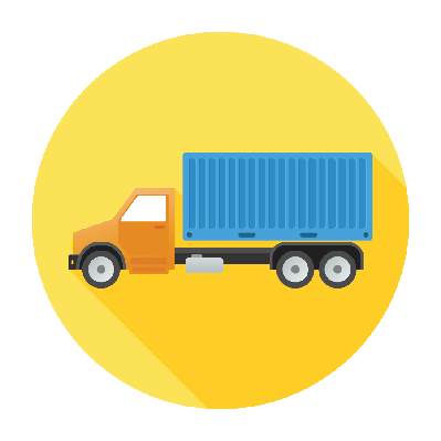 Flat Truck Icon | Clipart