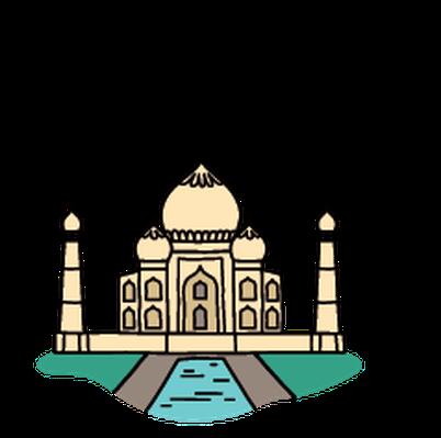 Landmarks - Taj Mahal | Clipart