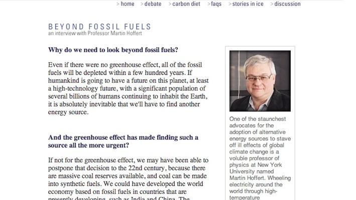 Global Warming: Beyond Fossil Fuels