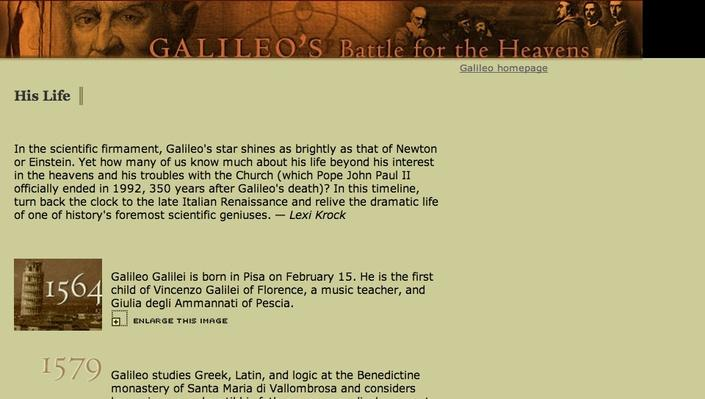 Galileo: Timeline of His Life