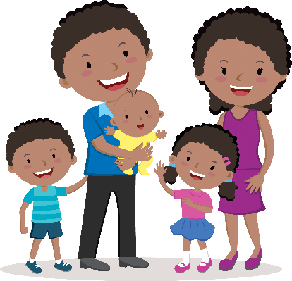 Happy Family Portraits | Clipart