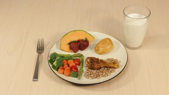 Un plato saludable