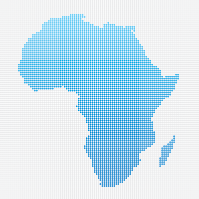Africa Map: Blue Dot Pattern | Clipart