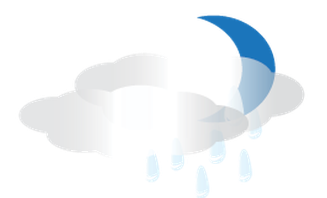 Weather - Moon and Rain Clouds | Clipart