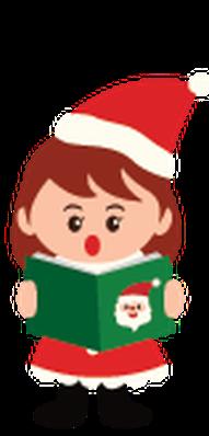 Kids Enjoying Christmas Time | Clipart