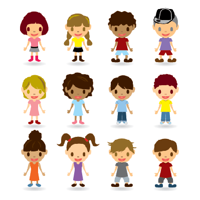 Kids Models Set | Clipart