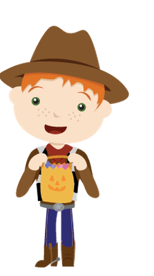 Cute Trick or Treaters | Clipart