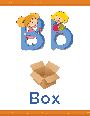 Alphabet Worksheets - B for Box | Clipart