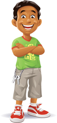 Boy with Arms Crossed | Clipart
