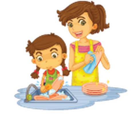 Different Actions of A Young Girl -03 | Clipart