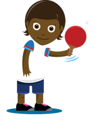 Children Playing Sports - Table Tennis, Girl | Clipart