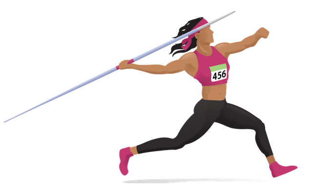 Women's Javelin - Approach Run | Clipart