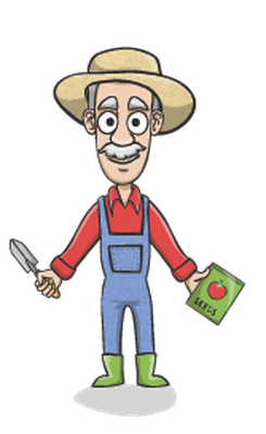 Happy Gardener Charactor Set | Clipart