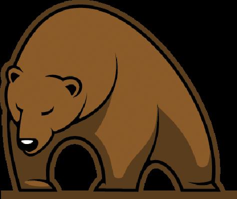 Big Brown Bear Mascot | Clipart